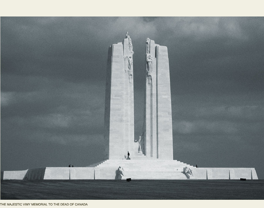 Vimy Memorial, Canadian Great War, Arras France