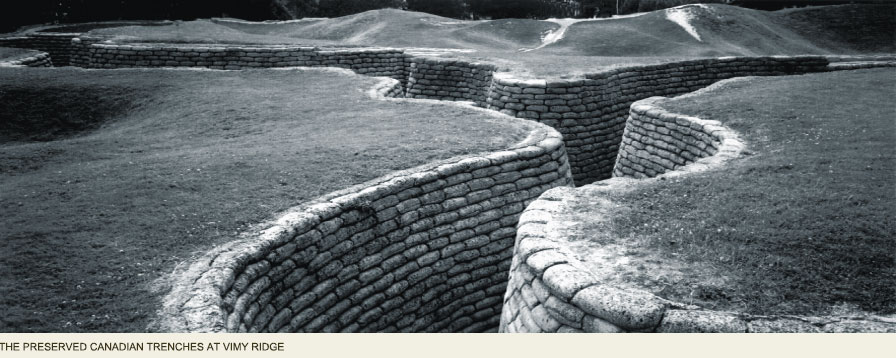 Canadian Trenches, Great War, Arras France